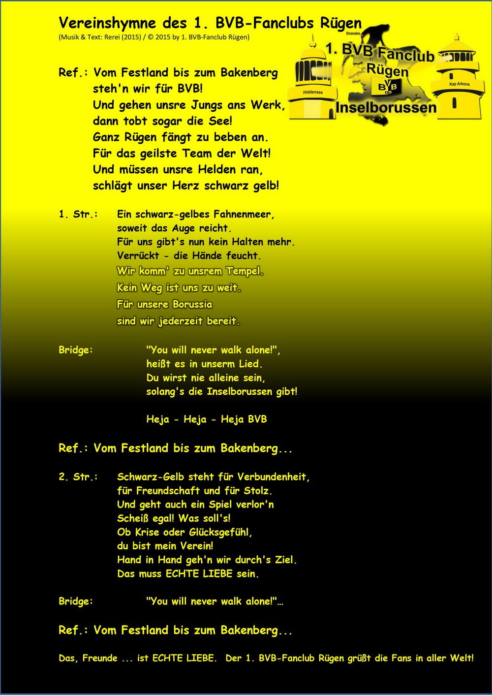 vereinshymne bvb text